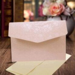 Lavender Elegant Floral Design Wedding Card