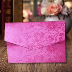 Pink Elegant Floral Design Wedding Card