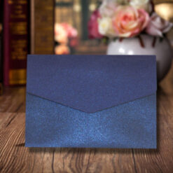Blue Elegant Design Wedding Card