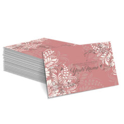 Pink with White Floral Design Mehndi Card