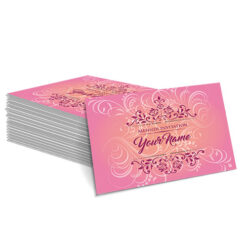 Pink with Faded Yellow Floral Design Mehndi Card