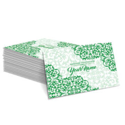 Green with Detailed Green Design Mehndi Card