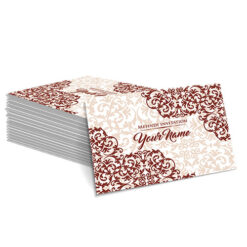 Maroon with Detailed Cream Design Mehndi Card