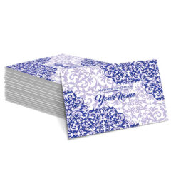 Blue with Detailed Navy Design Mehndi Card