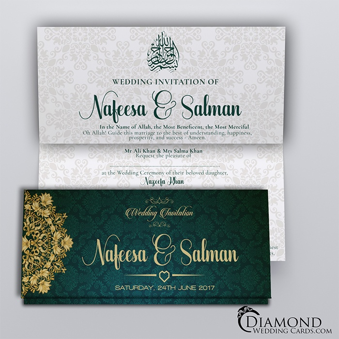 home muslim wedding cards - Muslim Wedding Cards